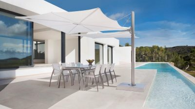Outdoor Furniture NZ - Duo Spectra Parasol Natural