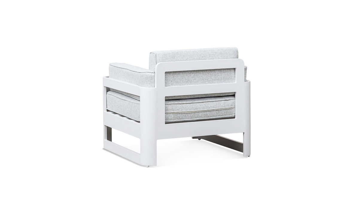 Outdoor Furniture NZ - Egmont Sofa Suite White Marble Chair Rear