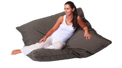 Outdoor Beanbag NZ - Marine Bean Atoll Chacroal Tweed