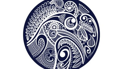 Outdoor Art - Kiwi's Lace - Navy