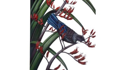 Outdoor Art - Tui on Flax