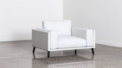 Outdoor Lounge Suites NZ - Kapiti Single Sofa White Angle